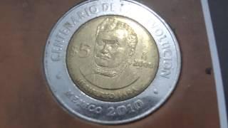Monedas conmemorativas México 2010 bicentenario de la independencia centenario de la revolución