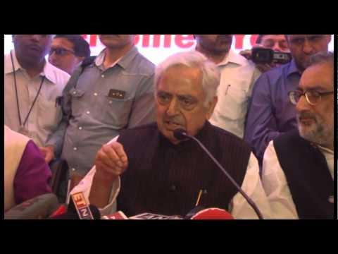 Jammu & Kashmir Chief Minister Mufti Mohammad Sayeed in Gujarat