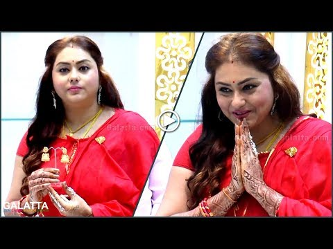 Namitha at Jewelry Shop Opening in Traditional Wear
