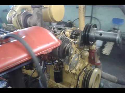 Испытание двигателя CAT 3306 после кап ремонта сервисной бригадой ДСТ-Иркутск