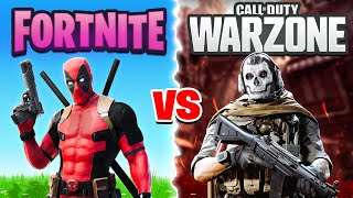INSANE WARZONE vs FORTNITE KILLS CHALLENGE