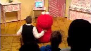 Elmo and Mr Noodle at Sesame Place and Shresth