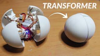 TRANSFORMING a 4-legged robot into a 6cm ball (4B)