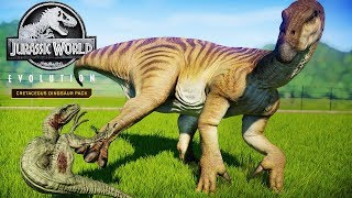 IGUANODON KICKS RAPTORS! BEST KILL ANIMATION!! | Iguanodon Kill Tests (Jurassic World: Evolution)