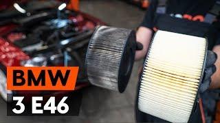Kaip ir kada reikia keisti Variklio oro filtras BMW 3 Convertible (E46): videopamokos