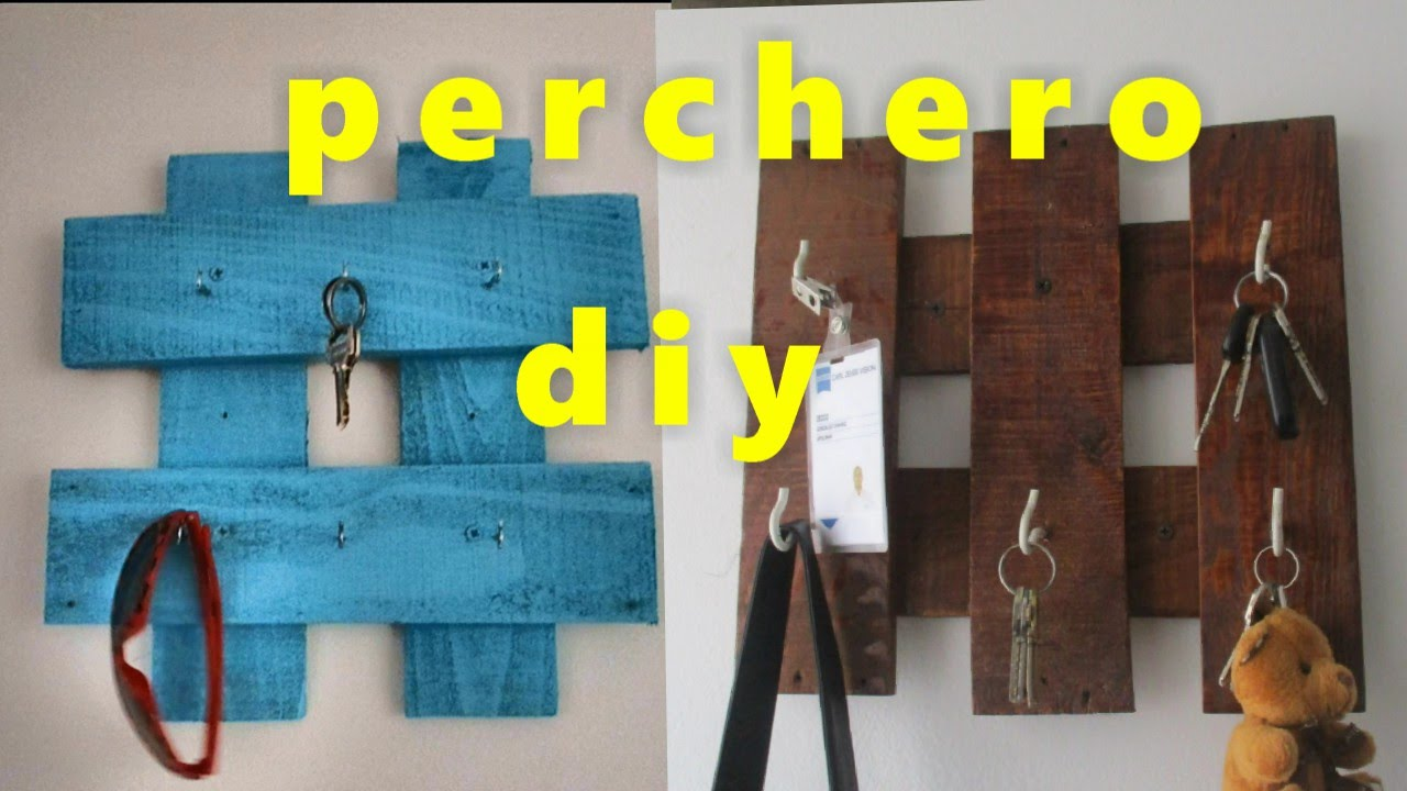 Perchero y o llavero reciclado diy youtube for Como hacer un perchero de pared
