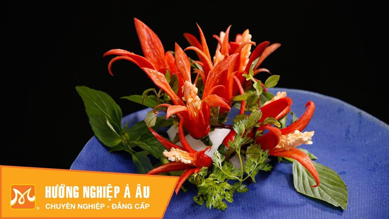 5 cách tỉa hoa từ ớt cực đẹp mà đơn giản   Học cắt tỉa hoa quả