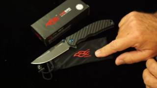 ganzo Firebird g7513cf g7513 cf flipper knife carbon fiber scales