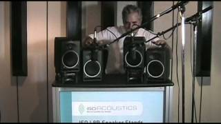 IsoAcoustics AMAZING Studio Monitor Isolation Demo.mp4