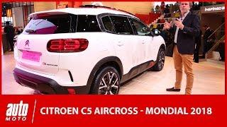 Mondial de l'auto 2018 : découverte du Citroën C5 Aircross