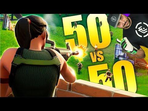 50 VS 50 *NUEVO* MODO Y NUEVA ARMA FORTNITE
