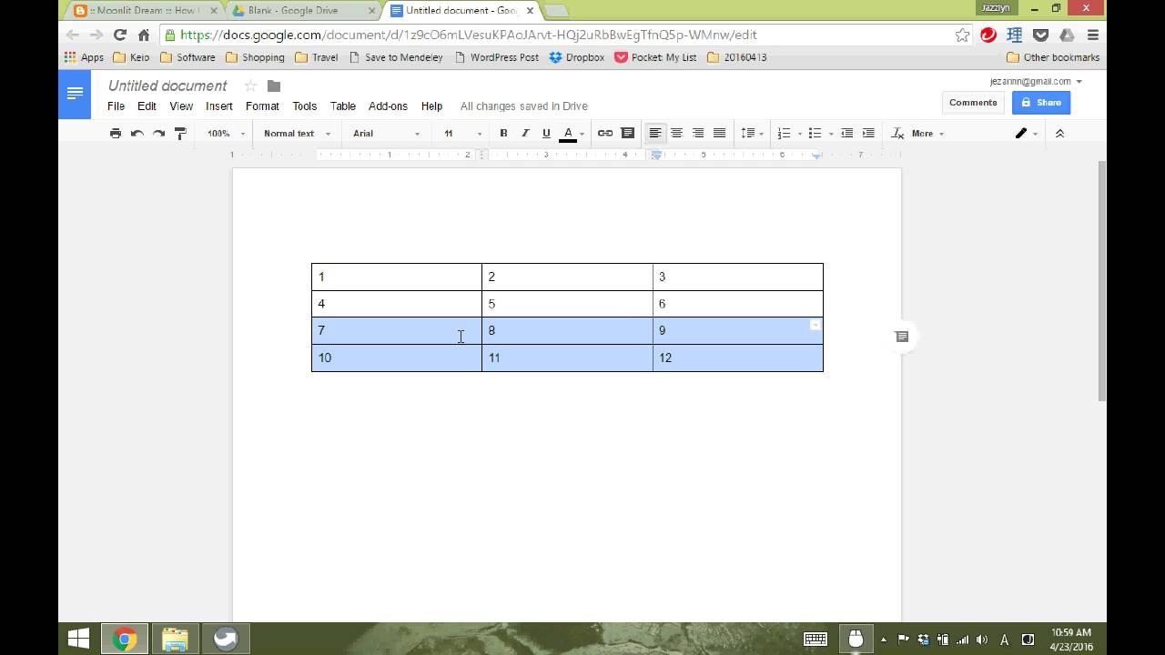 How to Split Tables in Google Doc