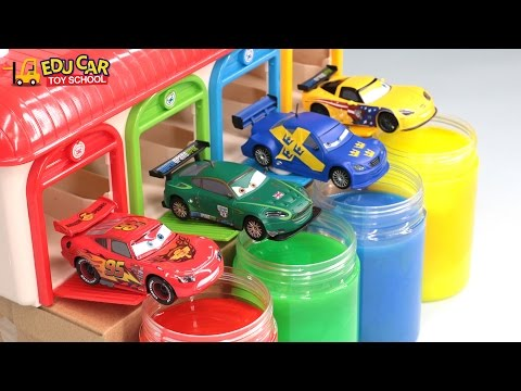 Thumbnail: Learning Color with Special Disney Pixar Cars Lightning McQueen Mack Truck Slime for kids car toys