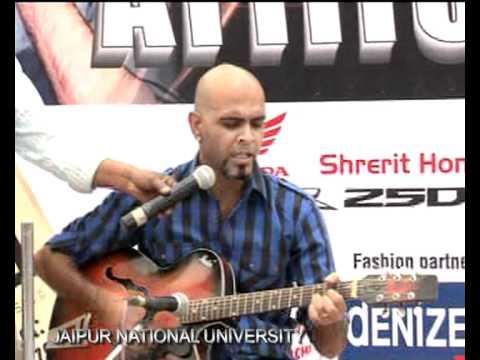 RAGHU RAM PERFORMING AT JAIPUR NATIONAL UNIVERSITY[jnu jaipur]