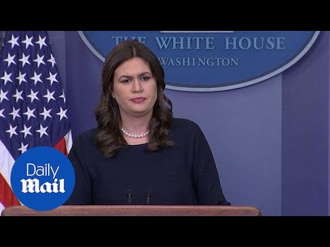Sarah Sanders says Trump met with leaders of video game industry - Daily Mail