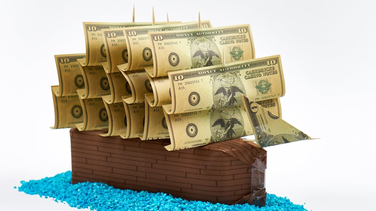 Wedding Cash Gift Idea Making A Sailing Ship Out Of Money Youtube