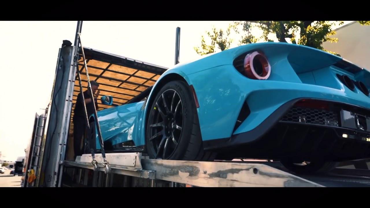 Miami Blue Ford Gt Cinematics