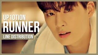 Video UP10TION - Runner (시작해) Line Distribution (Color Coded) download MP3, 3GP, MP4, WEBM, AVI, FLV Januari 2018