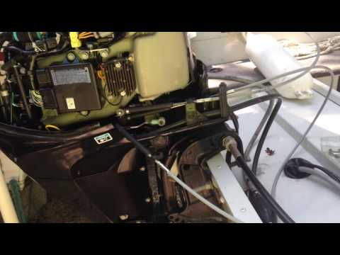 25 Mercury outboard throttle & shift cable replacement - YouTube