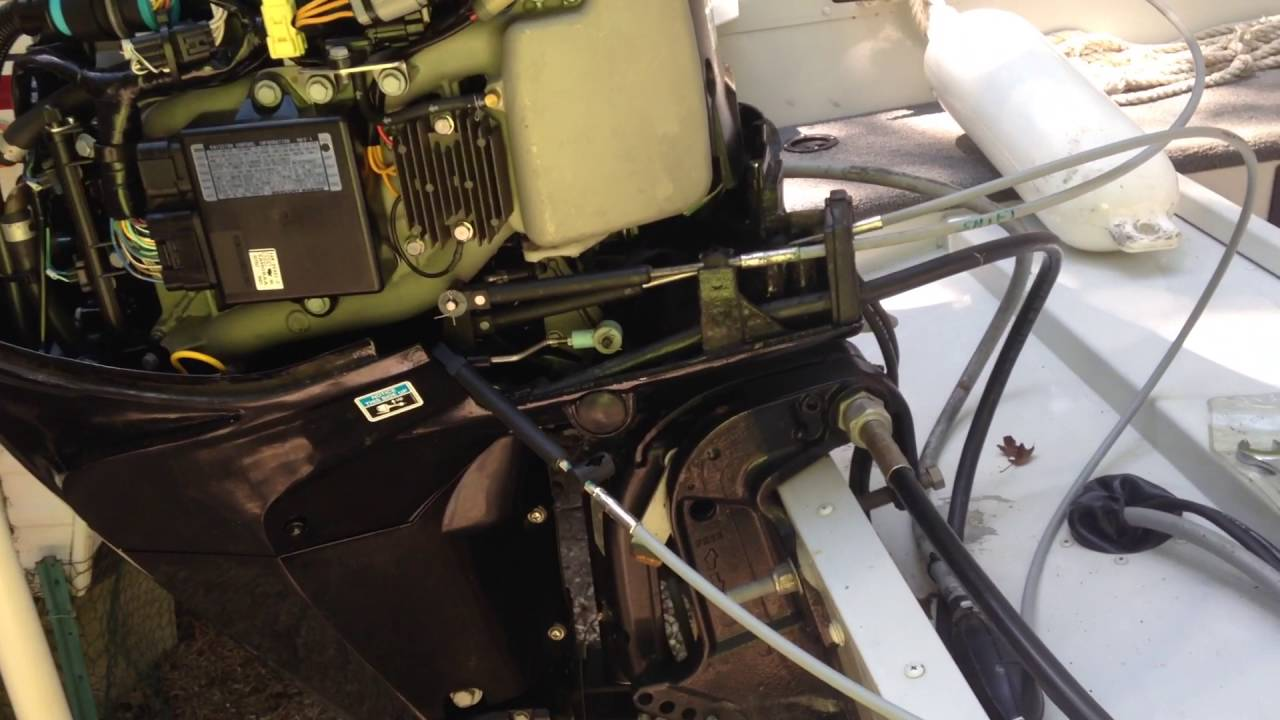 small resolution of 25 mercury outboard throttle shift cable replacement