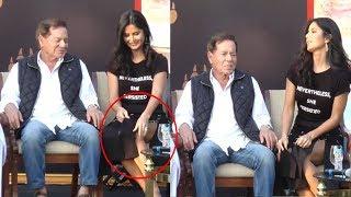 Katrina Kaif's Embarrassing Moment With Salman Khan's Father Salim Khan Caught On Camera