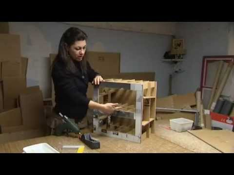 cr atrice de meubles en carton youtube. Black Bedroom Furniture Sets. Home Design Ideas