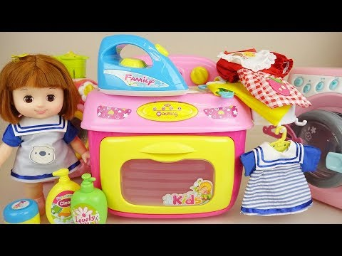 Thumbnail: Baby doli and washing machine baby doll toys play