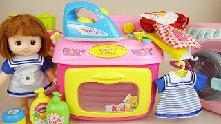 Baby doli and washing machine baby doll toys play