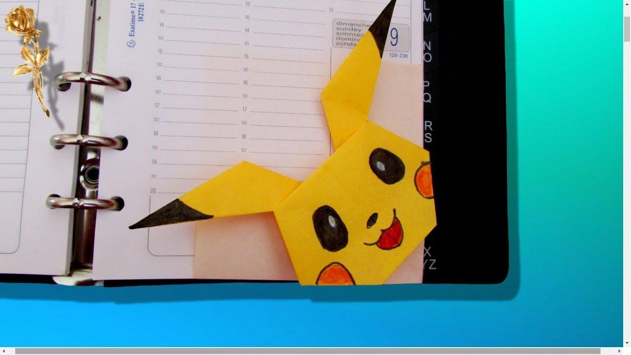 Origami Facile мarque Page Pokémon Pikachu