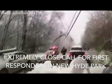 MUST SEE: Close Call For New Hyde Park First Responders