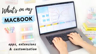 What's on my MacBook  💻  Best Apps & Extensions + Customization Tips!