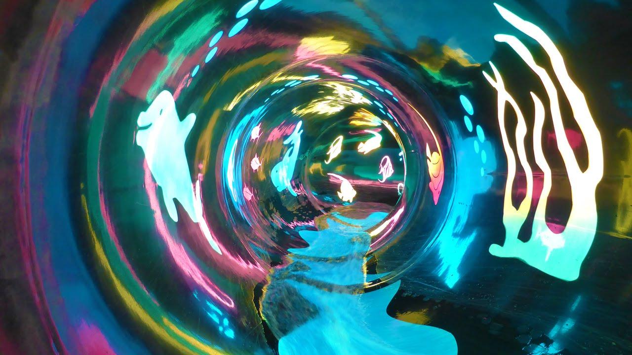 vodní svět sareza black hole cool underwater style water slide