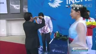 仁川亚运会 男子100米自由泳颁奖仪式 宁泽涛 Ning Zetao 닝제타오