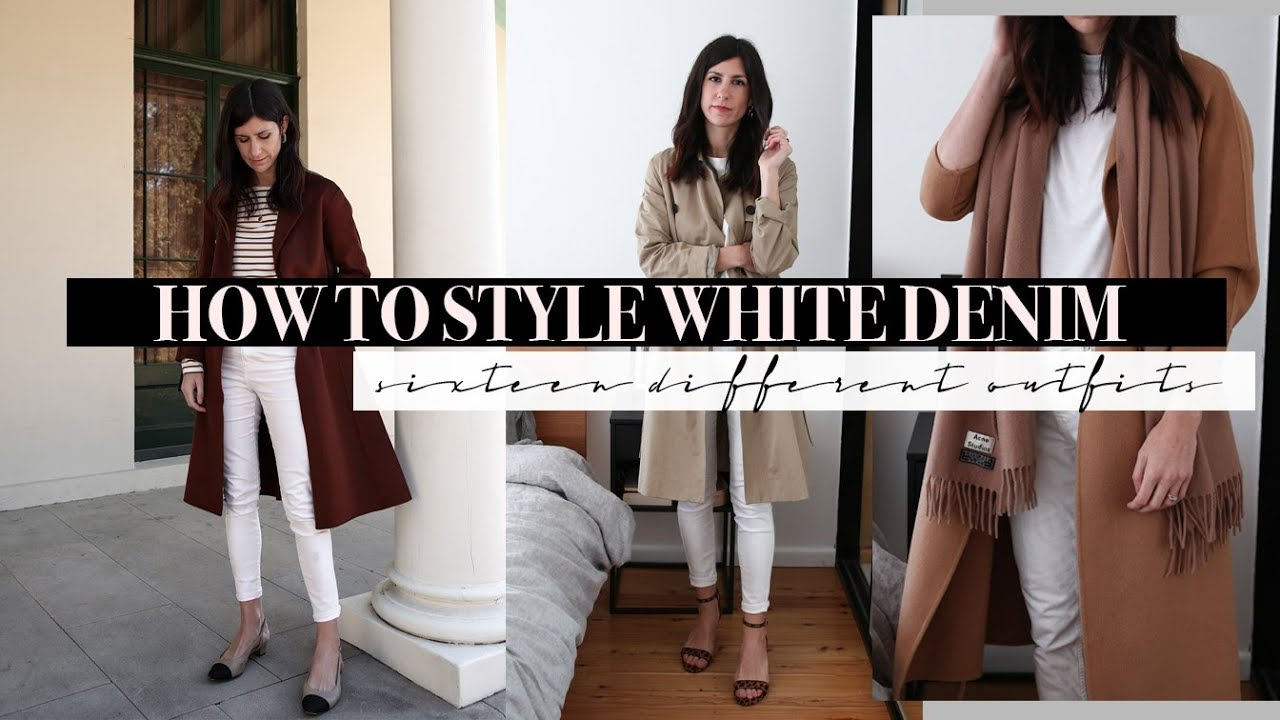 b7abac44bd5242 How to Style White Jeans - 16 Outfit Ideas with White Denim ...