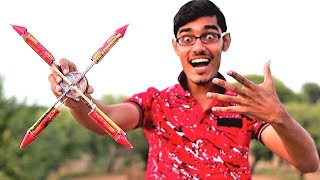 Chakri VS 4 Rockets | Awesome Diwali Experiment |