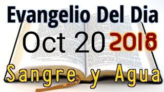 Evangelio del Dia- Sabado 20 Octubre 2018- Pecado Contra Espiritu Santo- Sangre y Agua