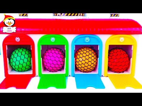Learn Colors with the Tayo Garage with Different Toy Cars for Children.Fun and educational