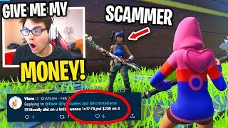 I Wagered a Fortnite SCAMMER and Recorded It All... (DON'T 1v1 THIS GUY!)