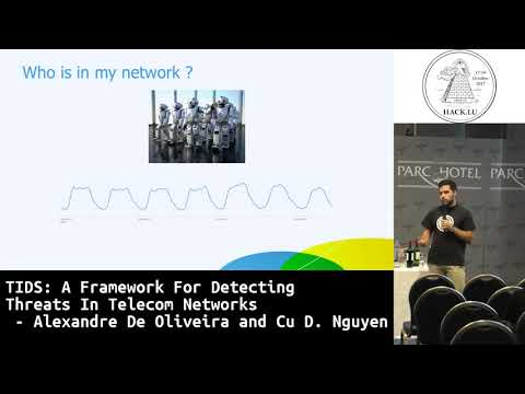 Hack.lu 2017 TIDS: A Framework for Detecting Threats in Telecom Networks