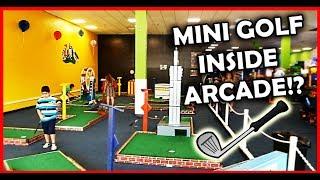 Mini Golf VS Challenge & Never Played Before Arcade Games! ArcadeJackpotPro