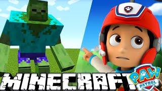 ЩЕНЯЧИЙ ПАТРУЛЬ - НА РАЙДЕРА НАПАЛИ в МАЙНКРАФТ. Minecraft #9 Развивающий мультик