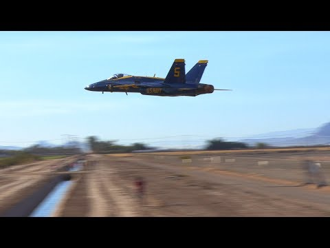 2018 Blue Angels (February 2nd & 3rd) AMAZING low 6 takeoff!