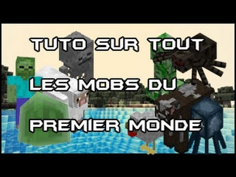 tuto minecraft tout savoir sur tout les animaux et mob du premier monde youtube. Black Bedroom Furniture Sets. Home Design Ideas