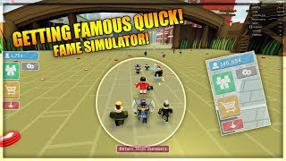 GETTING FAMOUS QUICK! - FAME SIMULATOR! - ROBLOX Simulator Gameplay