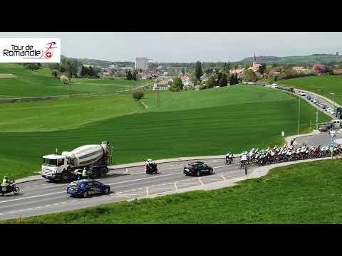 Tour de Romandie 2018: l'étape 1 vue du ciel