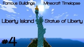 Minecraft [Timelapse] - Famous Buildings #4: Liberty Island & Statue of Liberty (DOWNLOAD)