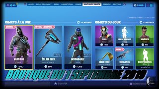 Fortnite: Shop of September 1, 2019, New skin VAUTOUR, New blue flash pickaxe