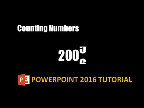 Counting Numbers Text Animation Effect in PowerPoint 2016 Tutorial | The Teacher