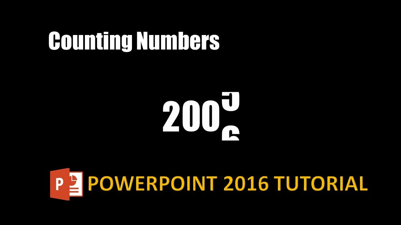 Number Countdown Text Animation in PowerPoint 2016 / 2019 Tutorial