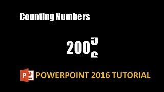 Compter le Nombre de Texte d'Effets et d'Animations dans PowerPoint 2016 Tutoriel